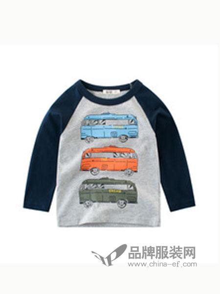 27KIDS童装品牌汽车图案圆领卫衣