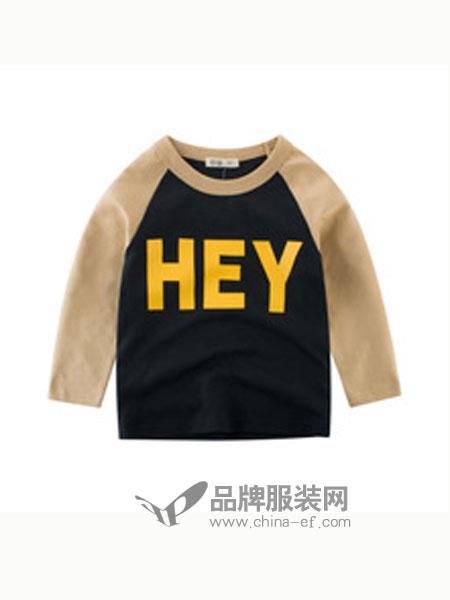 27KIDS童装品牌字母拼接圆领上衣