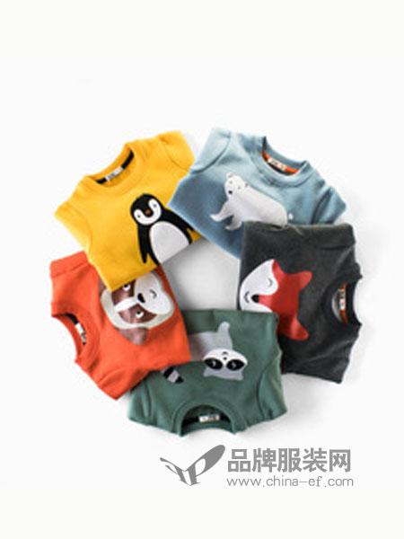 27KIDS童装品牌圆领图案卫衣