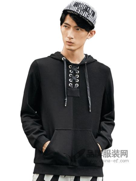 柒牌男装品牌2019春季卫衣套头韩版长袖卫衣潮流时尚