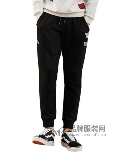 柒牌男装品牌2019春季裤子显瘦哈伦裤运动裤慢跑裤