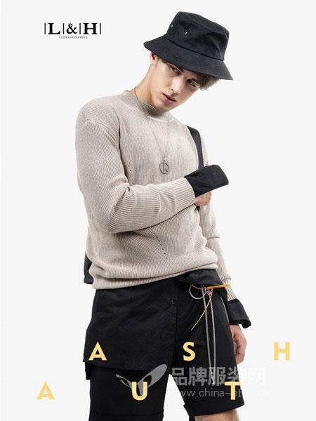 LUOHAO骆豪男装品牌2018秋冬男士修身毛衣针织衫