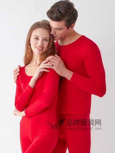 俞兆林休闲品牌2018秋冬内衣秋衣秋裤男士女士结婚棉毛衫情侣保暖套装