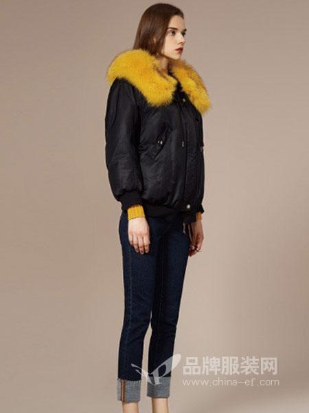 之写女装品牌2018秋冬短款斗篷型宽松加厚外套