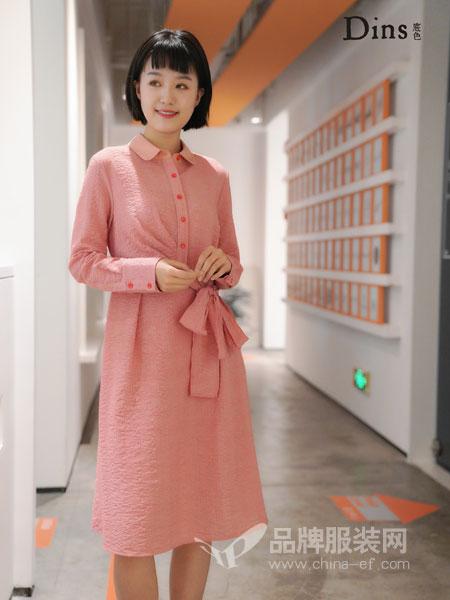 底色澳门永利赌场官网品牌2019春季新款韩版长袖高腰系带百搭针织连衣裙
