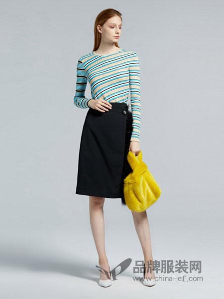 欧时力女装品牌2019春季长袖薄款修身短款针织打底衫