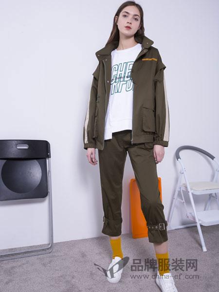 U&U女装品牌2019春季宽松连帽韩版百搭外衣