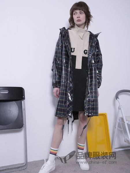 U&U女装品牌2019春季复古经典衬衣女 气质大码长款开衫