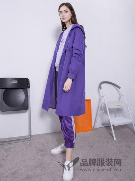U&U女装品牌2019春季新款韩版休闲中长款风衣外套