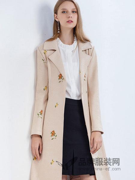 夺宝奇兵女装品牌2019春季新款外套中长款西装领