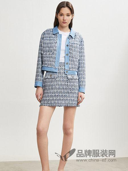 夺宝奇兵女装品牌2019春季新款小外套复古格子短款外套