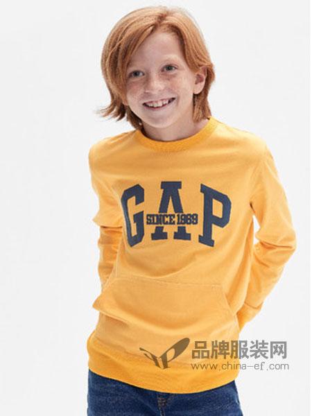 Gap童装品牌2019春季纯棉套头打底卫衣