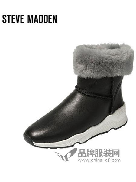 史蒂夫・�R登鞋帽/领带品牌2018秋冬保暖毛绒短靴平底雪地靴