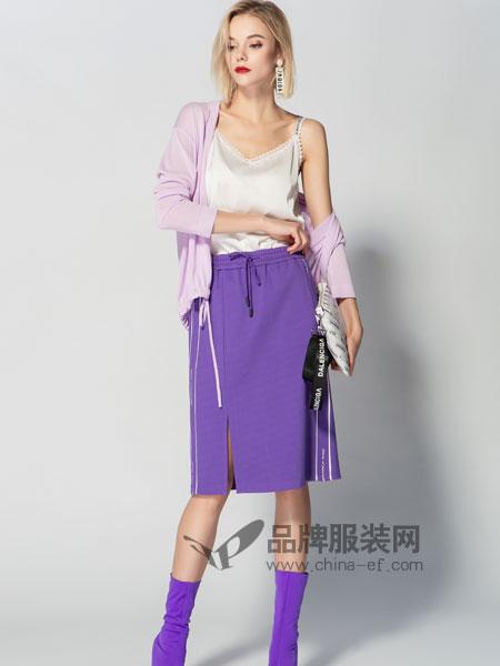 JA&EXUN女装品牌2019春季薄款针织休闲外套