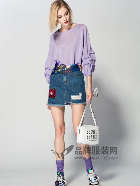 JA&EXUN女装品牌2019春季薄款宽松针织百搭上衣