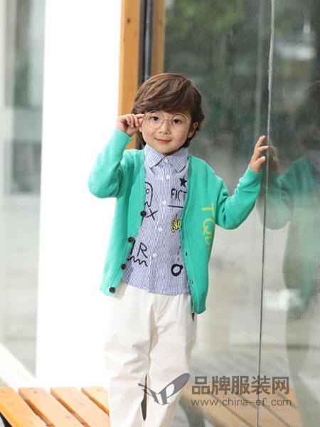 淘气贝贝童装品牌2019春季韩版宽松洋气女童长袖毛线针织开衫外套