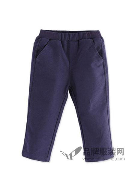 阳光鼠童装品牌2018秋冬保暖棉裤婴幼儿纯色外出裤