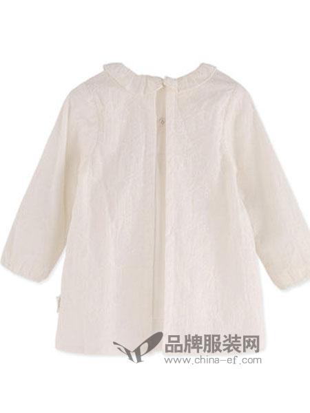阳光鼠童装品牌2018秋冬简洁长袖衬衣女童休闲外出上衣