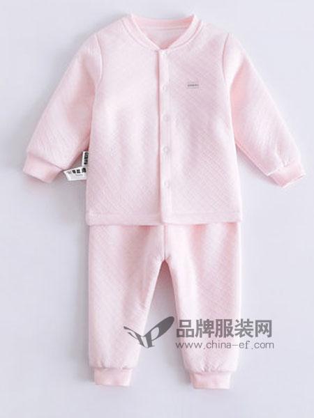 哥比兔童装品牌2018秋冬夹丝开衫婴儿保暖内衣薄棉秋衣套装