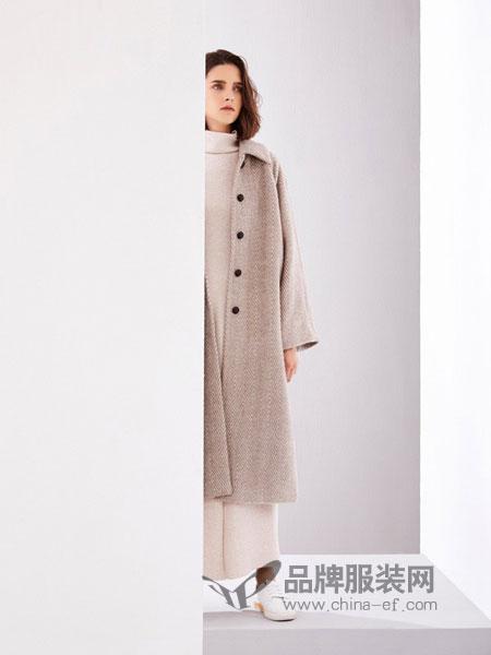 树生活女装品牌2018秋冬新款双面羊绒大衣欧美风纯色羊毛呢外套