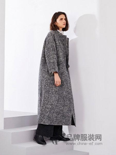 树生活女装品牌2018秋冬新款宽松大码长袖显瘦韩版加厚中长款开衫