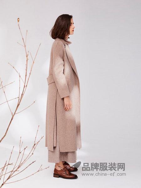 树生活女装品牌2018秋冬气质收腰风衣中长款外套厚