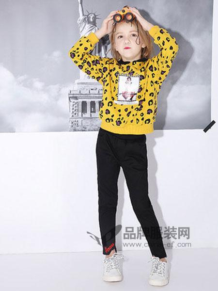 米奇丁当童装品牌2019春季中大童洋气连帽儿童长袖上衣