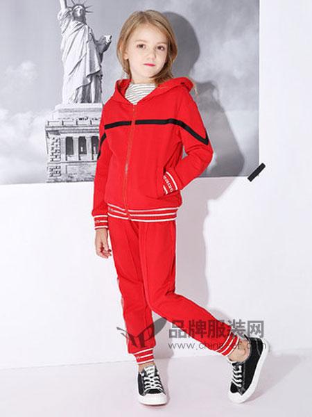 米奇丁当童装品牌2019春季中大童洋气运动外套两件套潮