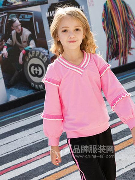 米奇丁当童装品牌2019春季中大童洋气刺绣宽松外套