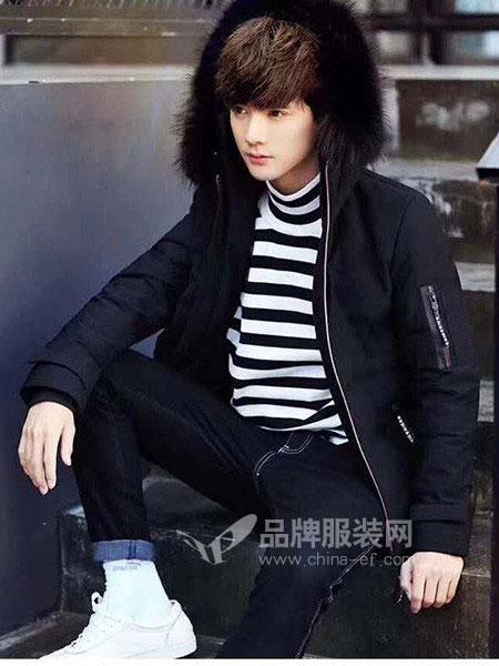 一个人的生活休闲品牌2018秋冬韩版宽松羽绒服男装外套潮流学生