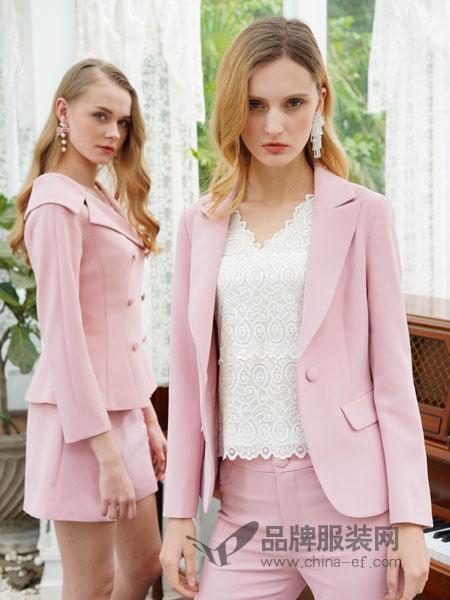 珈姿·莱尔女装品牌2019春季修身一粒扣 粉色 短外套
