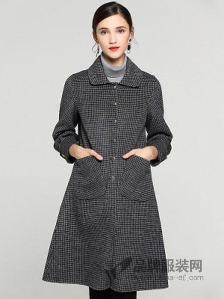 缇子TYZEE女装品牌2018冬季新款中长款修身显瘦气质外套