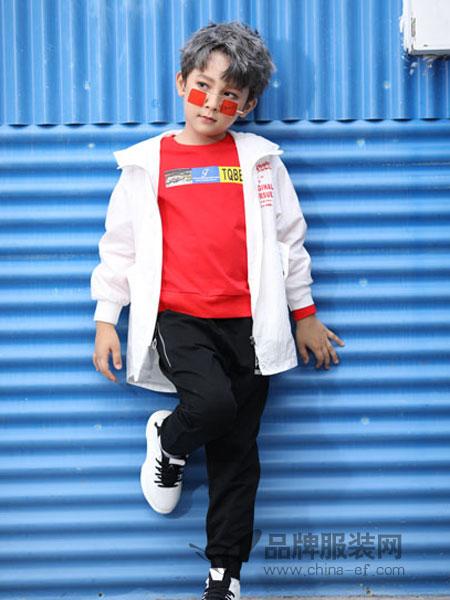 淘气贝贝/可趣可奇/艾米艾门童装品牌2019春季新款韩版儿童长袖外套中大童两件套套装