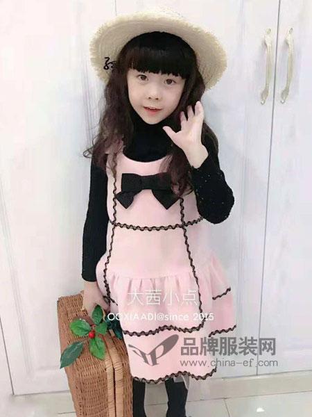 大茜小点童装品牌2018秋冬蝴蝶结背心连衣裙