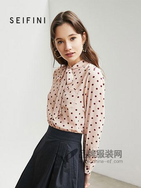 诗凡黎女装品牌2019春季雪纺衫长袖韩版设计感小众衬衫