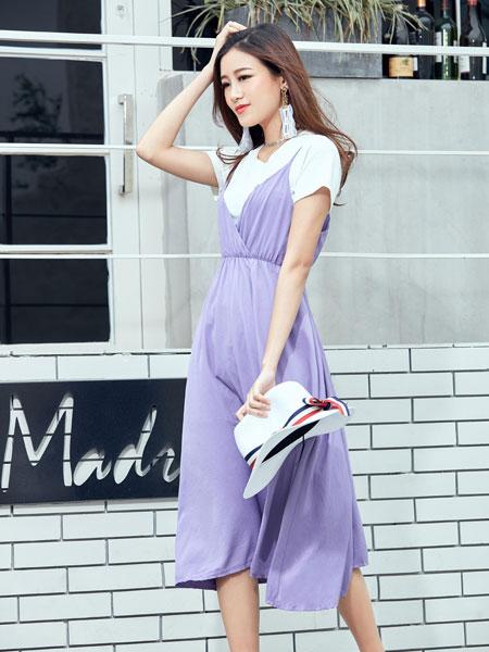 集韩号女装品牌夏装修身中长裙过膝蕾丝打底裙长袖裙子