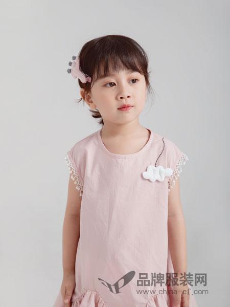 林芊美眉童装品牌2019春季纯色花边背心 纯棉无袖上衣 吊带打底衫