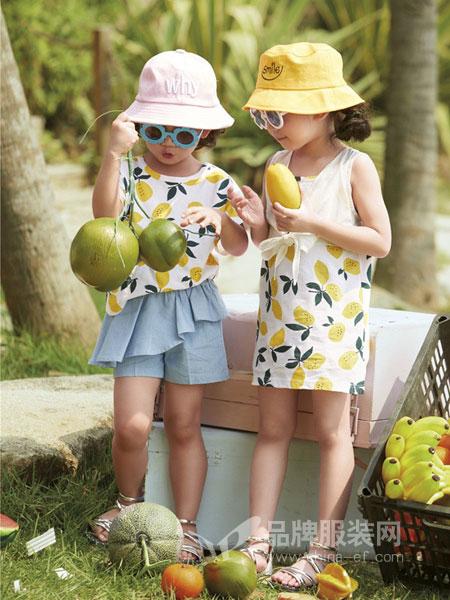 玛宝乐童装品牌2019春夏女童圆领水果印花衫 短袖T恤上衣