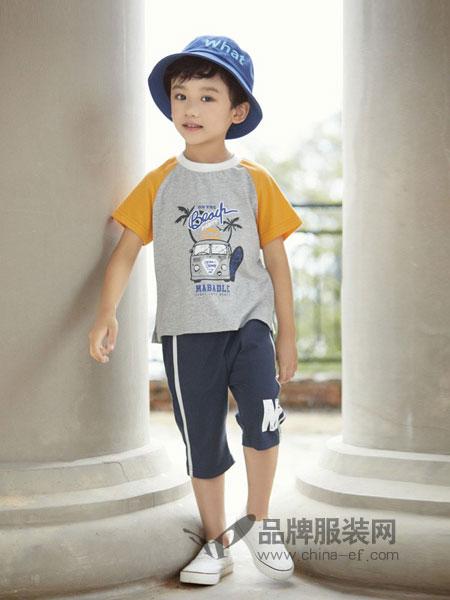 玛宝乐童装品牌2019春夏男童短袖T恤衫  纯棉