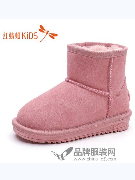 红蜻蜓童装品牌2018秋冬雪地靴加绒保暖中筒靴真皮儿童棉靴