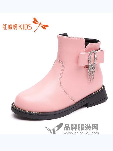 红蜻蜓童装品牌2018秋冬靴子保暖二棉靴真皮公主靴儿童短靴