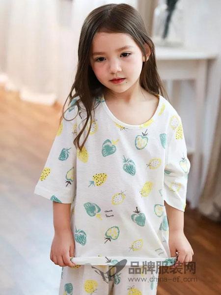 小博士童装品牌2019春季女童舒适透气菠萝短袖T恤