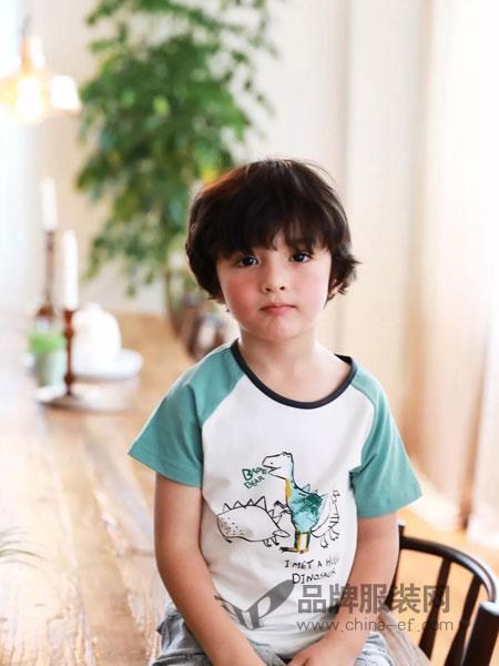 小博士童装品牌2019春季运动t恤t恤童装运动