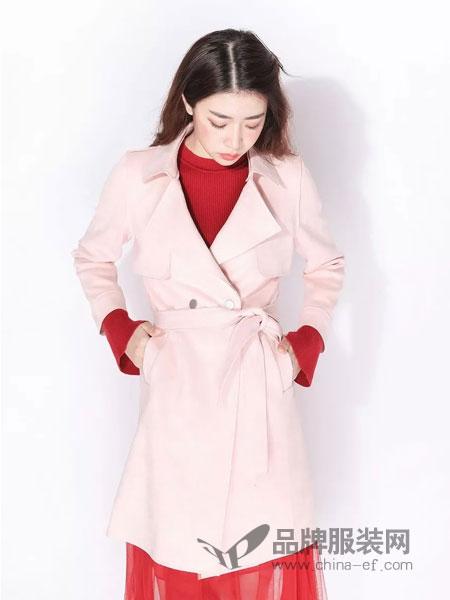 ximonchoo女装品牌2019春季新款韩版中长款外套修身显瘦