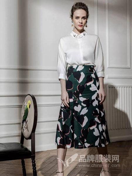 允硕女装品牌2019春季新款高腰修身百搭长裤时尚气质