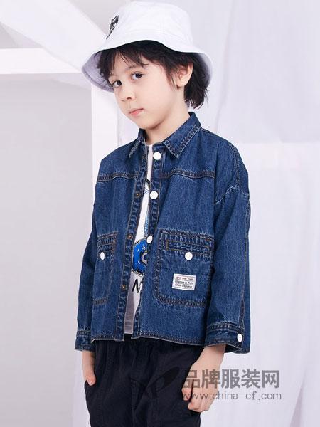 捷米梵童装品牌2019春季夹克儿童牛仔衣上衣韩版百搭夹克