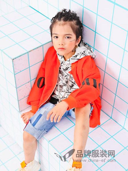 爱心果童装品牌2019春季新款休闲运动连帽开衫夹克