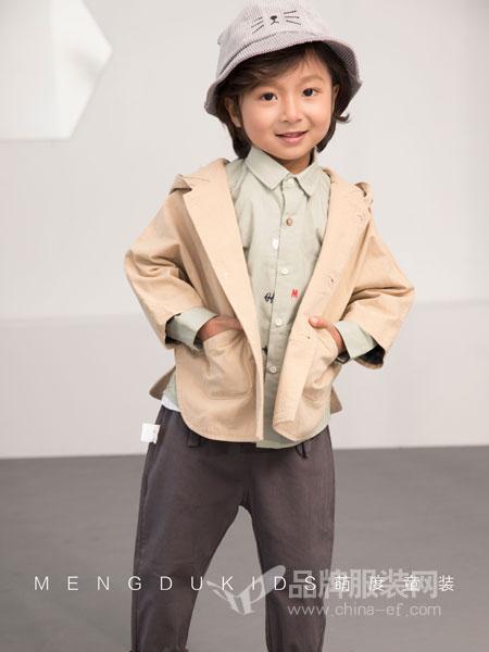 萌度童装品牌2019春季新品套头卫衣圆领落肩长袖T恤韩版潮