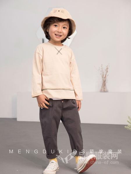萌度童装品牌2019春季卫衣圆领落肩长袖T恤韩版潮