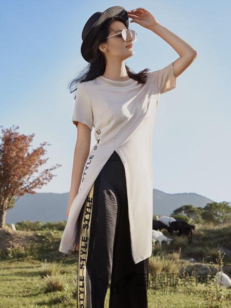 弗蔻Fu Kou女装品牌2019春季雪纺修身两件套